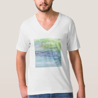 The scenery picture T shirt of the river which is