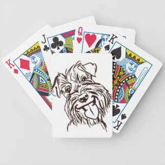 The Schnauzer Love of My Life Bicycle Playing Cards