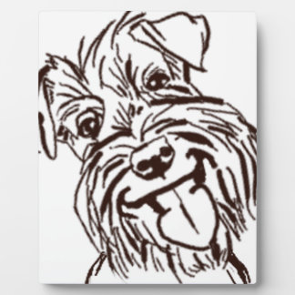 The Schnauzer Love of My Life Plaque