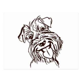 The Schnauzer Love of My Life Postcard