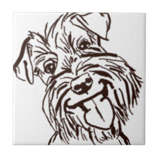 The Schnauzer Love of My Life Tile