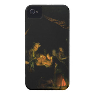 The School Master, 1660-65 (oil on panel) iPhone 4 Case-Mate Case