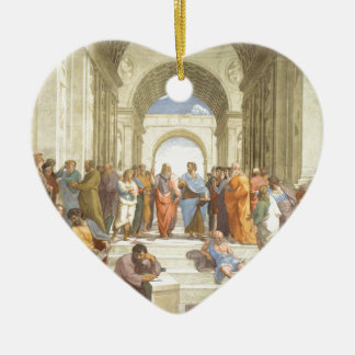 The School of Athens Ceramic Heart Decoration