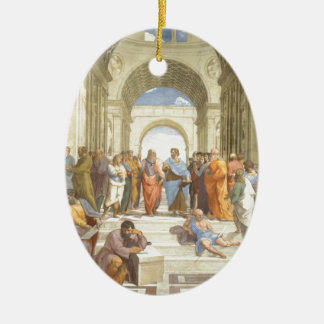 The School of Athens Ceramic Oval Decoration