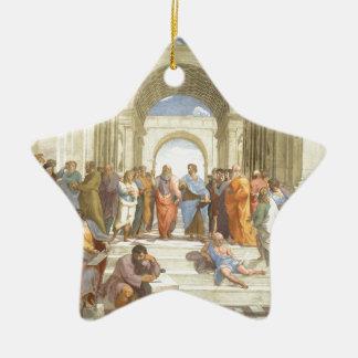 The School of Athens Ceramic Star Decoration