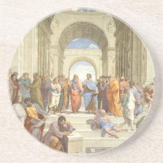 The School of Athens Sandstone Coaster