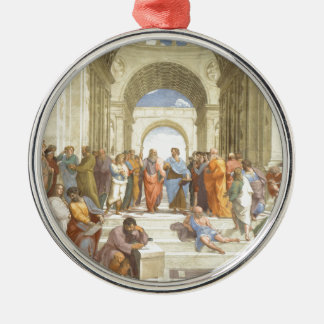 The School of Athens Silver-Colored Round Decoration