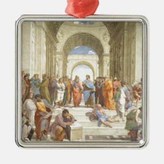 The School of Athens Silver-Colored Square Decoration