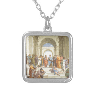 The School of Athens Silver Plated Necklace