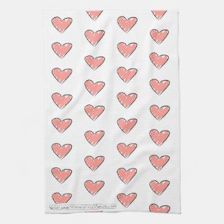 The School of The Livingness Love Heart Tea Towel