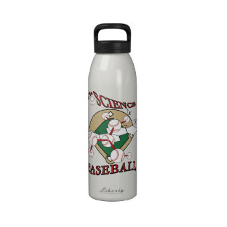 The Science of Baseball Water Bottle