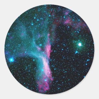 The Scorpion's Claw Reflecting Nebula DG 129 Classic Round Sticker