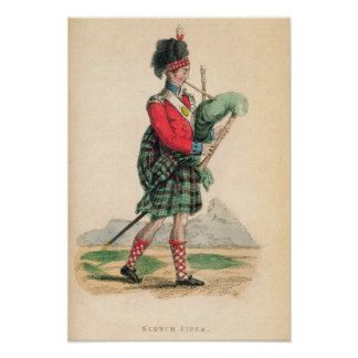 The Scotch Piper Poster