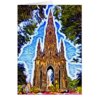 The Scott Monument, Edinburgh, Scotland. Card
