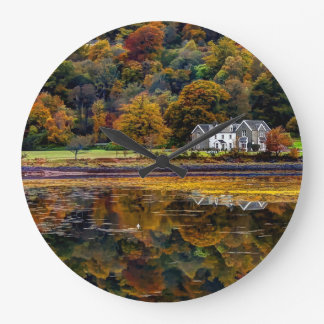 The Scottish Highlands in Argyl Large Clock