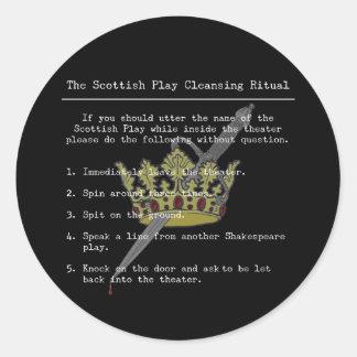 The Scottish Play Round Stickers