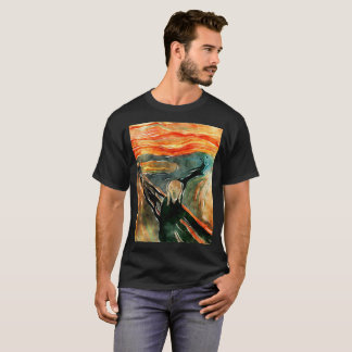 The Scream Art Orange Painting Artistic T-Shirt