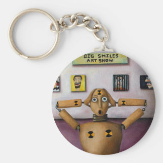 The Scream At The Big Smiles Art Show Key Ring