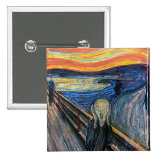 The Scream by Edvard Munch 15 Cm Square Badge