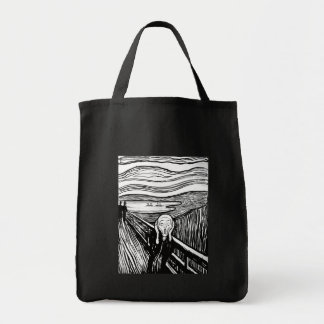 The Scream by Edvard Munch Canvas Bags