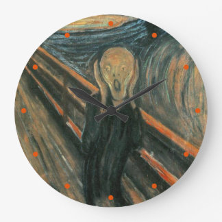 The Scream by Edvard Munch Large Clock