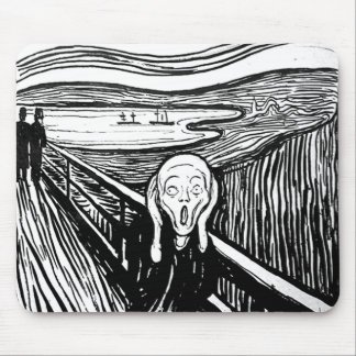 The Scream by Edvard Munch Mouse Pads