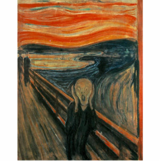 The Scream by Edvard Munch Photo Sculpture Magnet