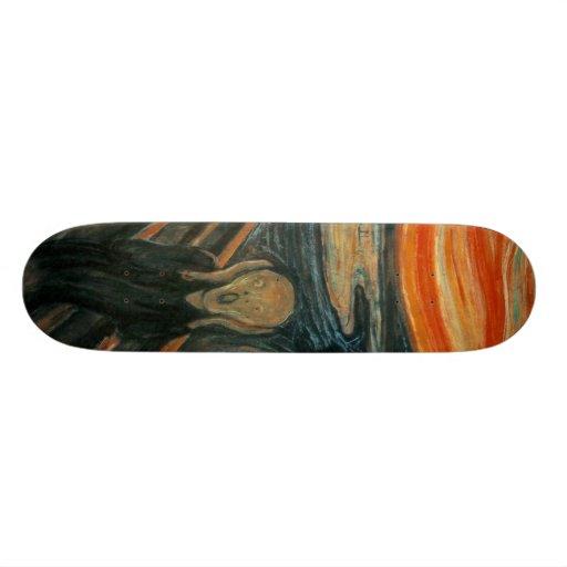 The Scream by Edvard Munch Skate Board