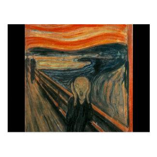The scream by Edvard Munch,symbolist painter Postcard