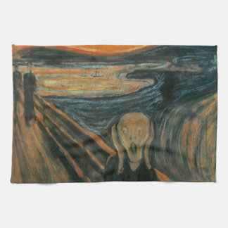 The Scream by Edvard Munch Tea Towel