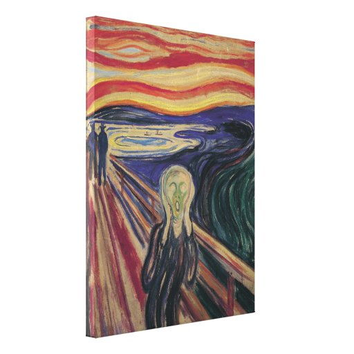 The Scream by Edvard Munch, Vintage Expressionism Gallery Wrap Canvas