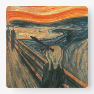 The Scream by Edvard Munch Wallclocks