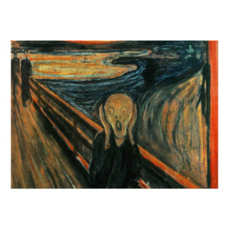 The Scream by Edward Munch Poster