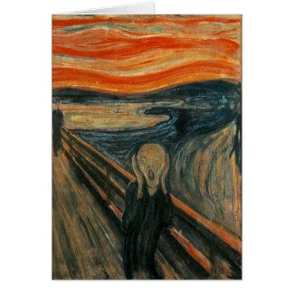 The Scream - Edvard Munch. Painting Artwork. Card