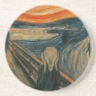 The Scream - Edvard Munch. Painting Artwork. Coaster