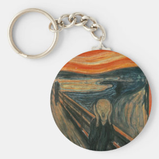 The Scream - Edvard Munch. Painting Artwork. Key Ring