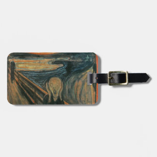 The Scream - Edvard Munch. Painting Artwork. Luggage Tag
