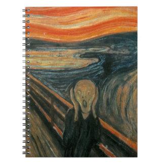 The Scream - Edvard Munch. Painting Artwork. Notebook