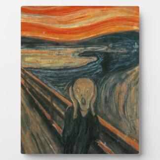 The Scream - Edvard Munch. Painting Artwork. Plaque