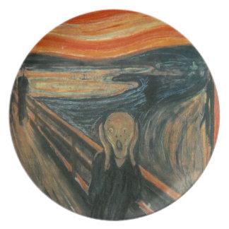 The Scream - Edvard Munch. Painting Artwork. Plate