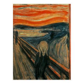 The Scream - Edvard Munch. Painting Artwork. Postcard