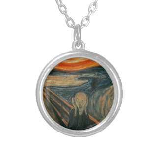 The Scream - Edvard Munch. Painting Artwork. Silver Plated Necklace