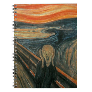 The Scream - Edvard Munch. Painting Artwork. Spiral Notebook