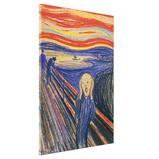 The Scream Edvard Munch (pastel 1895) High Quality Canvas Print