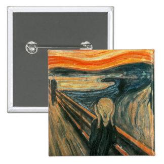 The Scream Edward Munch Screaming Pinback Button