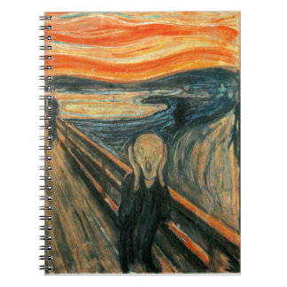 The Scream Edward Munch Screaming Spiral Notebook