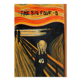 The Scream - Funny 40th Birthday Card