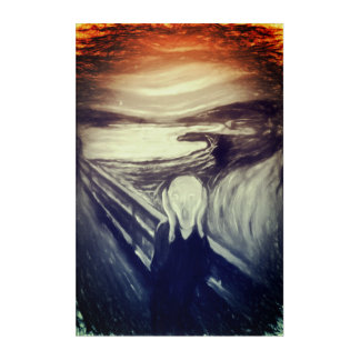The Scream modern remake Acrylic Print