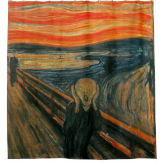The Scream Painting Shower Curtain