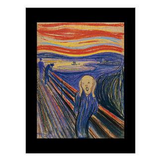 The Scream (pastel 1895) High Quality Extra Large Poster
